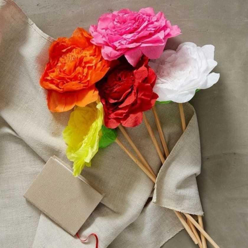 Цветы из бумаги своими руками: креативные решения изготовления поделки + поэтапные схемы для создания своими руками (140 фото)
