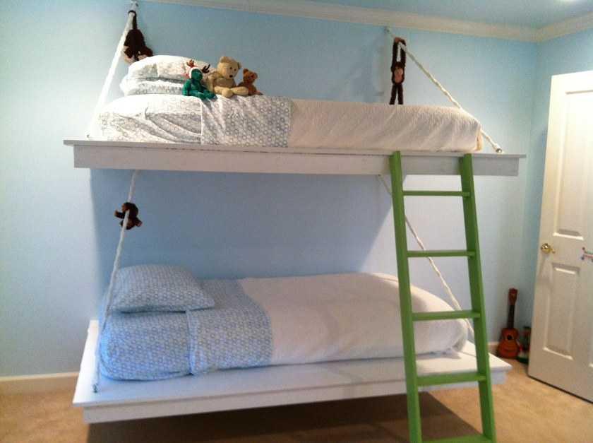 Двухъярусная кровать своими руками: поэтапное описание постройки дизайнерских и простых кроватей (с фото)